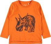 Name it Jongens T-shirt - Mandarin Orange - Maat 110