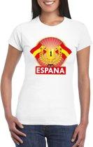 Wit Spanje supporter kampioen shirt dames S