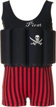 Beverly Kids UV drijfpakje Kinderen Captain Jack - Zwart - Maat 92