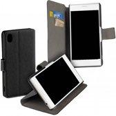 Zwart Y Wallet Bookcase Hoesje voor de Sony Xperia XA1 Plus