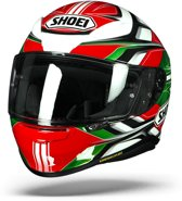 SHOEI NXR RUMPUS TC-4 ROOD WIT GROEN INTEGRAALHELM S