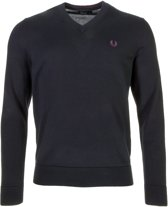 Fred Perry Classic Cotton V-Neck Sporttrui casual - Maat XL  - Mannen - zwart/paars