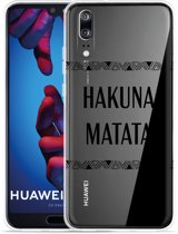 Huawei P20 Hoesje Hakuna Matata black