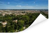 Uitzicht over de Franse stad Nîmes Poster 120x80 cm - Foto print op Poster (wanddecoratie woonkamer / slaapkamer) / Europese steden Poster