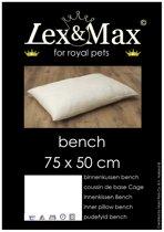 Lex & max basic binnenkussen rechthoek  75x50cm