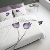Damai Tulipa Dekbedovertrek - Eenpersoons - 140x200/220 cm - Purple