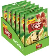 Bonzo Beggin' Strips - Baconsmaak - Hondensnack - 6 x 120 g