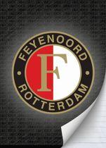 Schrift Feyenoord Grijs - A4 Gelijnd