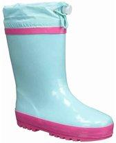 Playshoes Regenlaarzen met trekkoord Kinderen - Turquoise/Roze - Maat 32-33