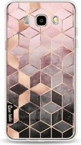 Casetastic Softcover Samsung Galaxy J5 (2016) - Soft Pink Gradient Cubes