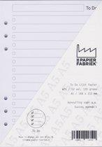 Aanvulling A5 Notitiepapier voor o.a. Succes, Filofax en Kalpa Agenda's /Planners 50 vel = 100 pagina's, To Do Lijst  A5 Formaat Wit 120 g/m²  Papier
