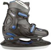 Nijdam 3024 Junior IJshockeyschaats - Verstelbaar - Hardboot - Grijs/Blauw - Maat 34-37
