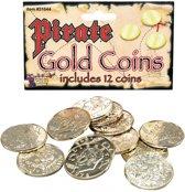 Gouden piraten munten 12 stuks