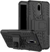 Huawei Mate 10 Lite hoesje - Rugged Hybrid Case - zwart