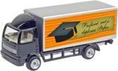 Leuk kado met naam model vrachtwagen - zwart
