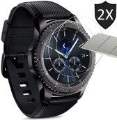 Samsung Gear S3 Frontier Screenprotector - Tempered Glass Gehard Glas - Case Friendly - iCall - 2 Stuks