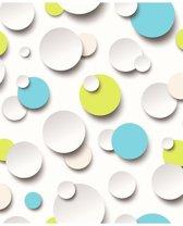 Dutch Wallcoverings vliesbehang cirkels - blauw/groen