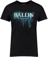 Ballin Est. 2013 - Heren Tee SS Blue Paint Shirt - Zwart - Maat XL