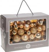 Gouden kerstballen 86 delig - kerstboomversiering goud