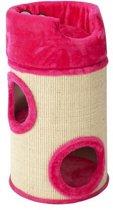 Cat dome de luxe met kussen 34x72cm roze