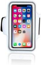 Wit Sportarmband Hardloopband Hoesje voor iPhone X