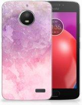 Motorola Moto E4 TPU Hoesje Design Pink Purple Paint
