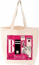 Tote bag b is for book
