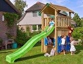 Jungle Gym - Cottage Playhouse 145 - Speelhuis voor Buiten - Met Glijbaan - Groen