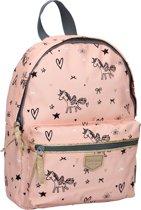 Kidzroom - rugzak Fearless - unicorn - eenhoorn - pastel pink - roze - 31x23x9xcm