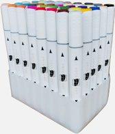 Poca Art - Alcohol Duo Brush Markers - Basisset - 40 Stiften