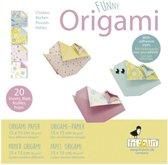 Fridolin Origami Kip Vouwen 15 X 15 Cm 20 Stuks Multicolor
