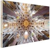 Sagrada Familia details Hout 60x40 cm - Foto print op Hout (Wanddecoratie)
