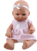 Falca Babypop Newborn 16 Cm Meisjes Roze Met Strepen