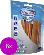 Renske Vleesrepen 100 g - Hondensnacks - 6 x Konijn&Groente
