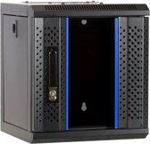 10 inch 6U serverkast met glazen deur 312x310x352mm (BxDxH)