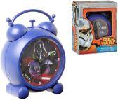 Starwars Darth Vader - Wekker - Kunststof - Blauw