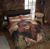 Leeuw 2 persoons dekbedovertrek, Leeuwen dekbed 200 x 200 centimeter