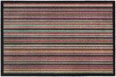 Schoonloopmat Impression lines salsa 40 x 60 cm