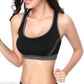 SOLDALOT02 - Seamless Crop Top - Sportbeha met Cross terug - Yoga Gym Fitness- Vrouwen - Maat L - Zwart