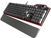Genesis RX85 - Mechanisch Gaming toetsenbord met bruine kailh-toetsen en witte verlichting
