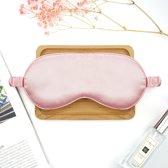 100% natuurlijk zijden slaapmasker, zijden hoes elastisch hoofdband verstelbaar, superzacht oogmasker voor slaap (roze)