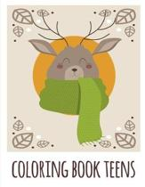 coloring book teens: Funny Animals Coloring Pages for Children, Preschool, Kindergarten age 3-5