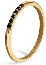 FAEMD 6 Black Spots Ring - Goud 7