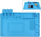 Let op type!! Maintenance Platform Anti-static Anti-slip High Temperature Heat-resistant Repair Insulation Pad Silicone Mats  Size: 45cm x 30cm (Blue)
