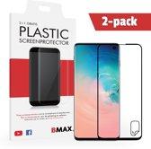 2-pack BMAX Samsung Galaxy S10 Screenprotector | Full Cover Beschermfolie | Werkt met Vingerafdruk | Ultra Clear PET | Onzichtbaar Display Folie