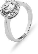 New Bling 943282884-58 - Zilveren Ring - met Zirkonia - Rond - 6 mm - Zilverkleurig