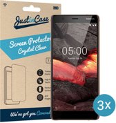 Just in Case Screen Protector Nokia 5.1 - Crystal Clear - 3 stuks