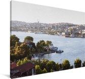 Rivier bij Istanbul Canvas 140x90 cm - Foto print op Canvas schilderij (Wanddecoratie woonkamer / slaapkamer)