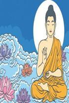 Buddha sitting in heaven