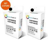 Huismerk 2X inkt cartridge voor HP 302XL zwart Toners-kopen_nl